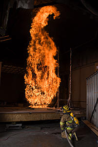 Controlled experiment at NIST's National Fire Research Laboratory