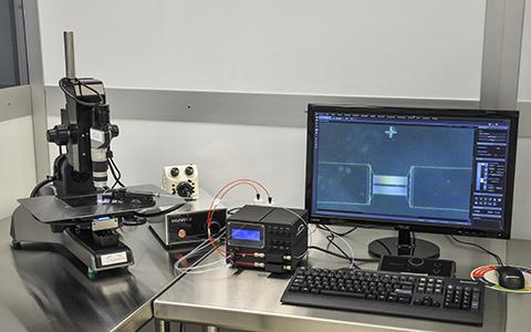 Photo Microfluidic Test Station
