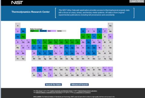 TRC alloy data site