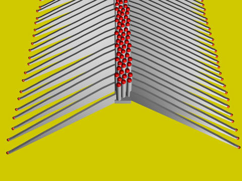 Illustration of a single row of nanowires