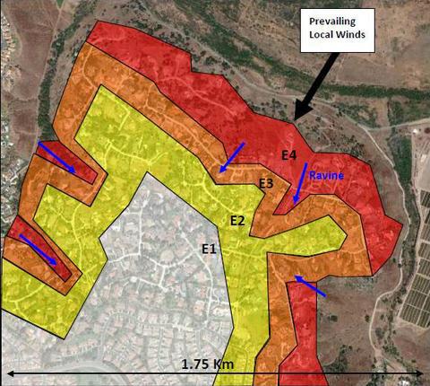 WUI Hazard Scale Zone Map
