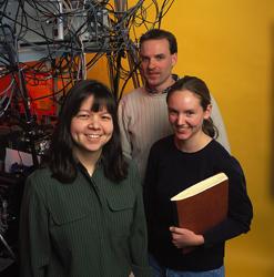 NIST/University of Colorado scientists (left to right) Deborah Jin, Markus Greiner, Cindy Regal