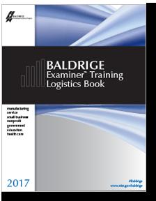 2017 Baldrige Examiner Training Logistics Book Cover