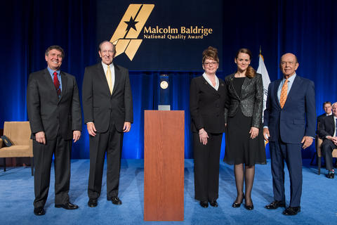 Photo of representatives from 2016 Baldrige Winners Kindred Nursing