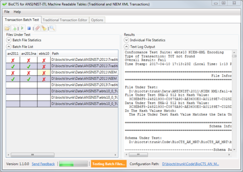 Transaction Batch Testing Multiple ANSI/NIST-ITL Profiles at Once