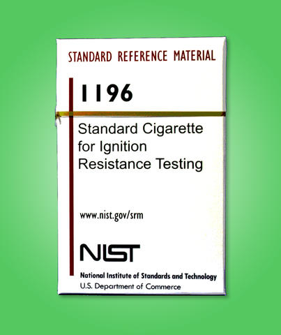 Posterized image of NIST SRM 1196, standard cigarette