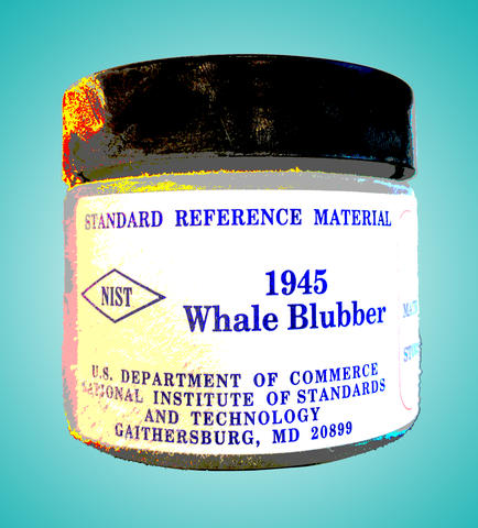 Posterized image of a container of NIST SRM 1945 (whale blubber)