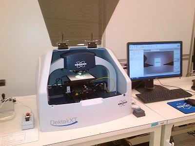 Photograph of the Bruker Dektak XT contact profilometer.