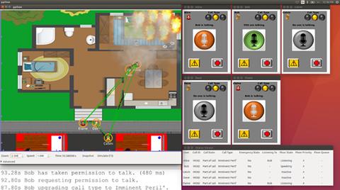 Screenshot of ns-3 simulation using D2D communication