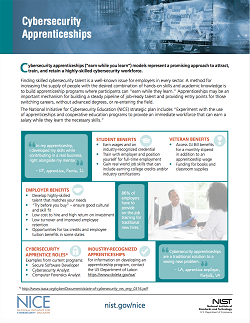 Cybersecurity Apprenticeships_One Pager_Oct 31 2017