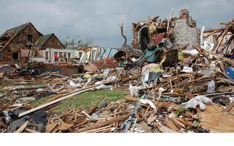 Photo of damage from 2011 Joplin, Mo, tornado