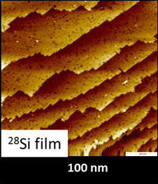 STM image of a 28-Si film deposited onto a Si/100 substrate