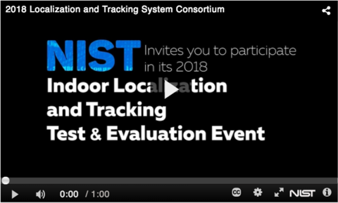 NIST video preview screen with a play button in the middle