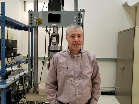 Enrico Lucon in the lab