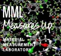 MML Measures Up logo on molecule model