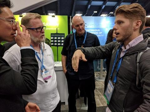 Bill Fisher at Yubico's booth at RSAC 2018