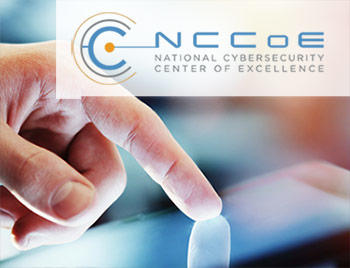NCCoE logo and computer tablet