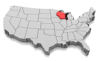 US Map with Wisconsin call out
