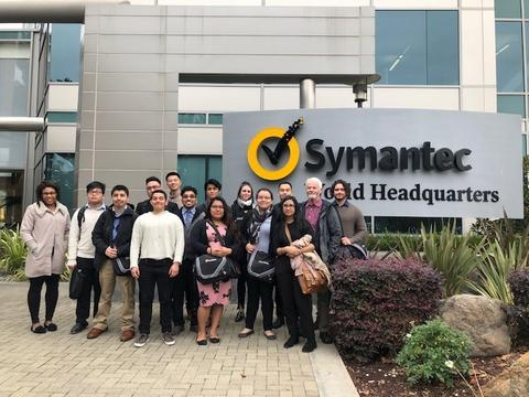 Symantec C3 students with professionals in the field
