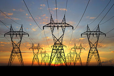 Power line towers