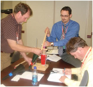 Staff from the Department of Homeland Security participate in a hands-on exercise as part of the SED short course on experiment design.