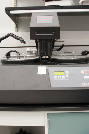 Photograph of the Allied High Tech Dual Prep PH-3 grinding and polishing system.