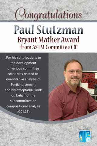 Paul Stutzman Receives the Bryant Mather Award