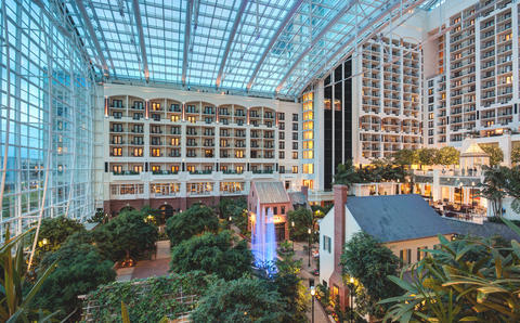 Photo of inside of the Gaylord National Harbor Hotel.