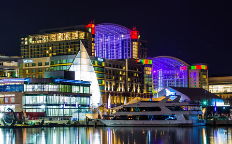 Gaylord National Harbor Hotel night photo
