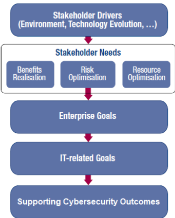 COBIT 5 Goals Cascade Supported by the Framework