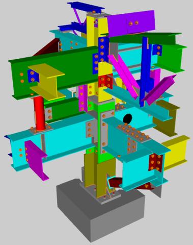 Screenshot of SteelVis output