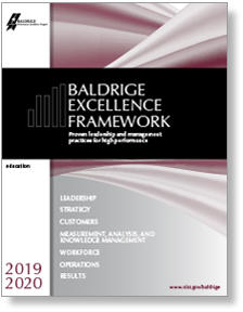 2019-2020 Baldrige Excellence Framework Education cover art