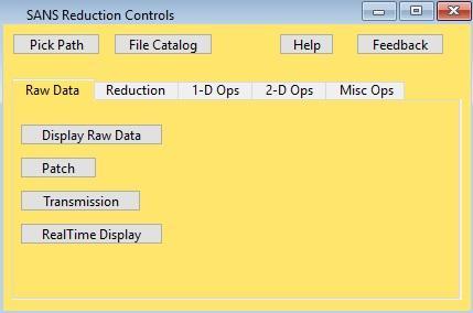 SANS Reduction Control Panel