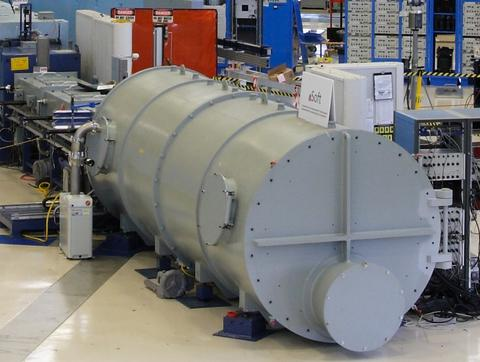 Picture of the detector tank of the NIST 10 meter Small Angle Neutron Scattering instrument