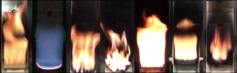 Wall Fires, Flame Spread, Material Burning Behavior, PMMA, POM, ABS, HIPS, GF-PE, PBT, Nylon