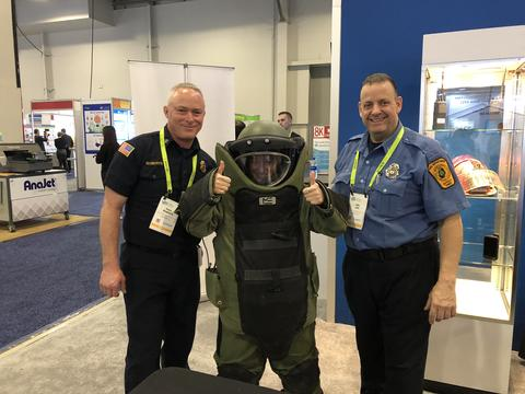 CES 2019 - PSCR Public Safety - Bomb Suit