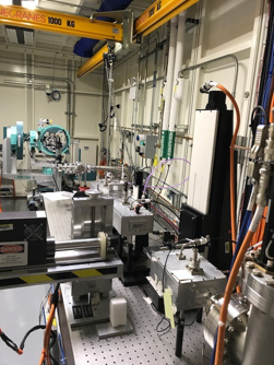 View from inside the X-ray enclosure hutch at the Beamline for Material Measurement.