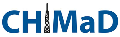 Logo for CHiMaD, the Advanced Materials Center of Excellence