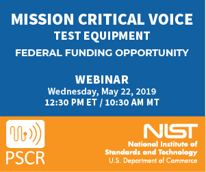 The MCV Test Equipment NOFO Webinar will take place on Wednesday, May 22 at 12:30 PM ET.