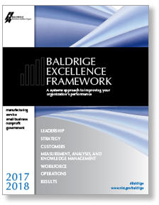 2019-2020 Baldrige Excellence Framework cover photo