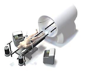 Illustration: Man Going into MRI