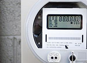 close up shot of a smart meter