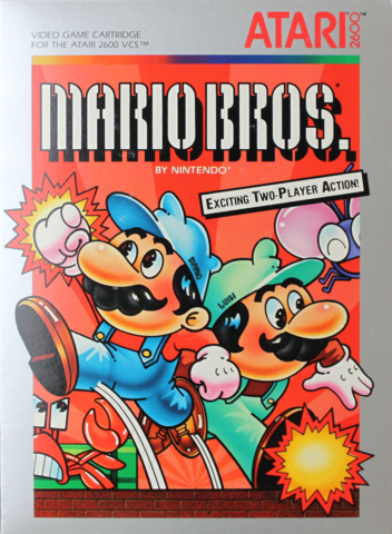 photo of Mario Brothers video game box cover