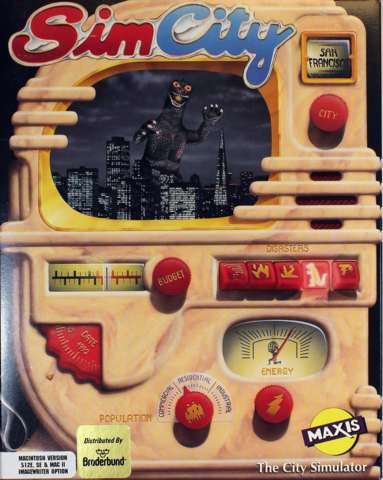 Box cover for Sim City video game