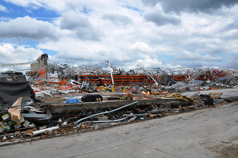 The remains of what was once a home improvement store in Joplin, Mo., showing the destructive power of the tornado that struck the area in May 2011.