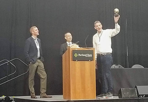 NIST's Sokwoo Rhee Receives the Portland Golden Globe Award 2019