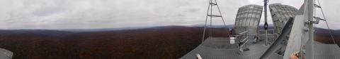 Panoramic view from the top of the Thurmont cell tower, in rural Maryland.