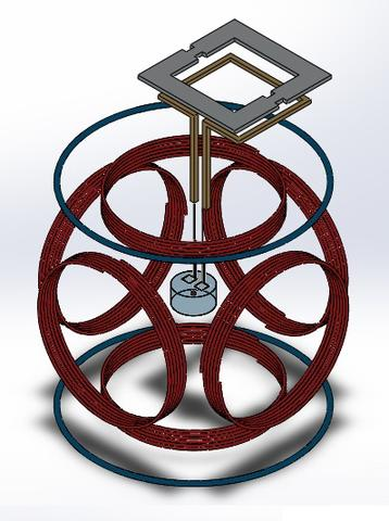 Illustration of Thermal MagIC assembly with coils