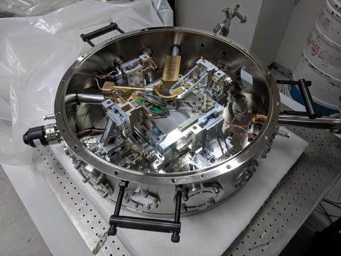 Prototype cryogenic atomic force microscope system with nanoscale electron spin resonance capability