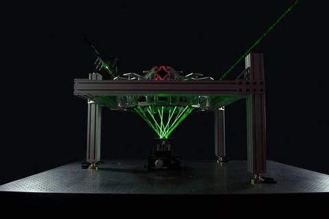 Tracing of green laser light in HALO